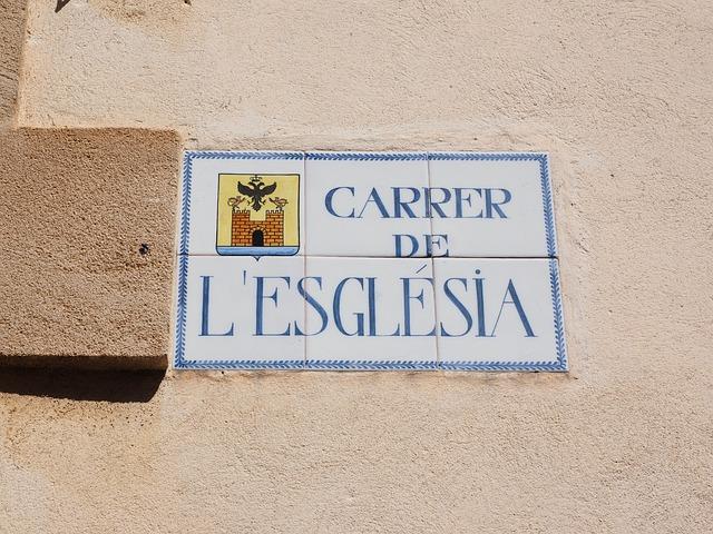 Street Sign, Mallorca, Alcúdia, Tile, Tile Street Sign