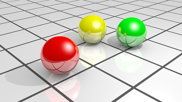 Colors, Spheres, Floor, 3d, Tile, Colored Balls