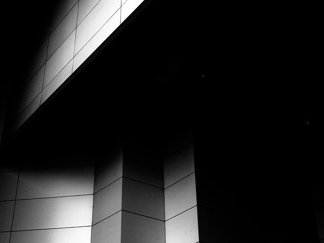 Wall, White, Black, Abstract, Geometric, Tile