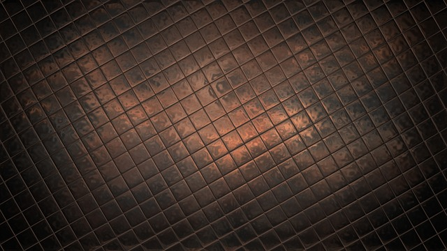 Refracted, Distorted, Tiled, Brown, Refraction