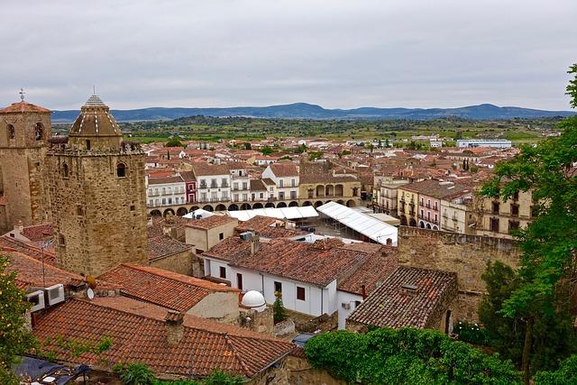 Trujillo, Spain, Rooftops, Tiles, Red, Mediterranean