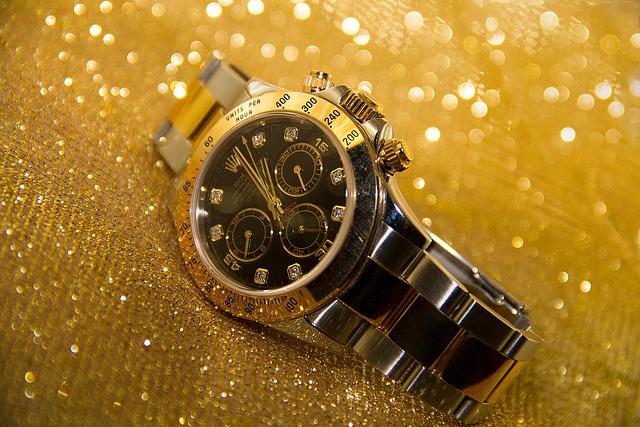 Clock, Wrist Watch, Time, Golden Background, Gold