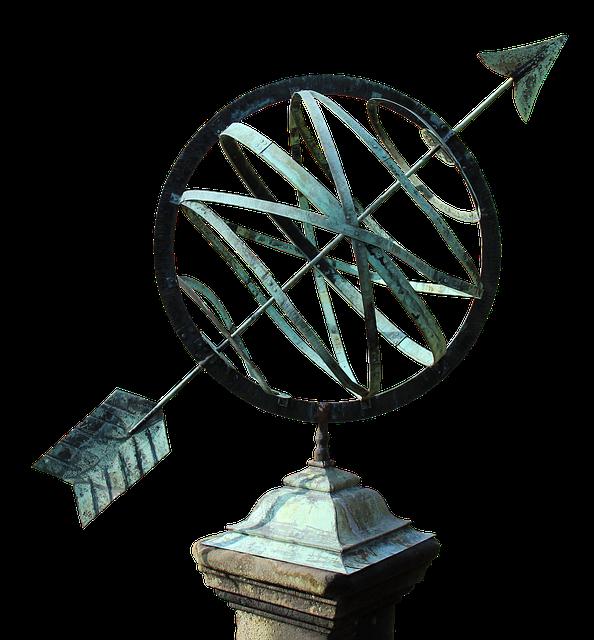 Sundial, Copper, Old, Time, Historically, Nostalgia