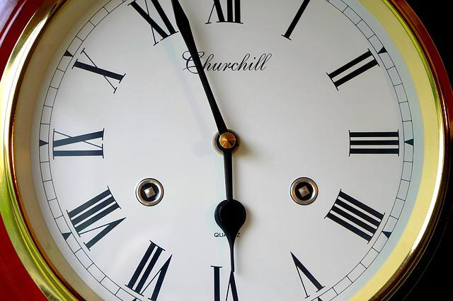 Clock, Face, Time, Hour, Minute, Second, Dial, White