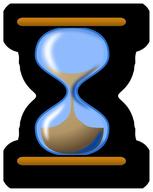 Hourglass, Sand, Blue, Glass, Time, Hour, Clock, Watch
