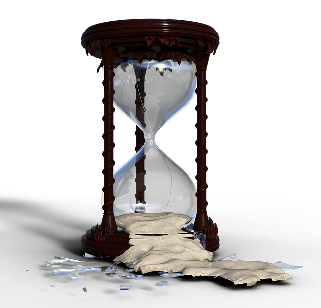 Hourglass, Flow Of Time, Broken, Time, Stopped