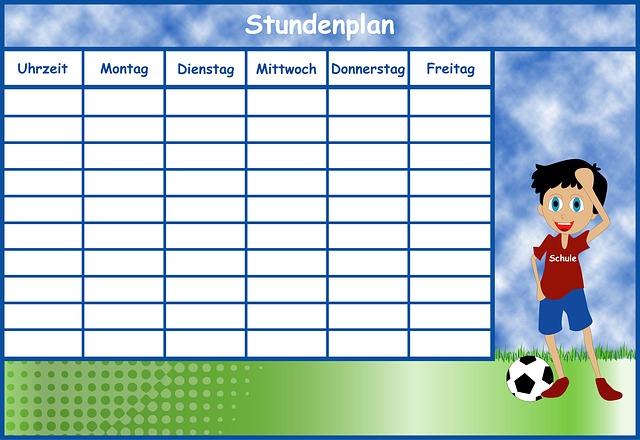 Timetable, Boy, Time Management