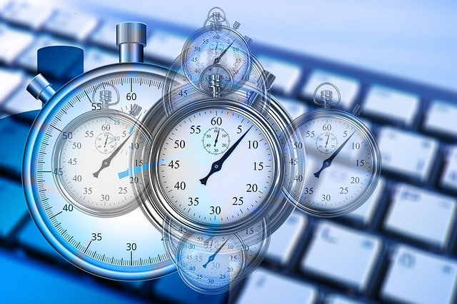 Time, Time Management, Stopwatch, Keyboard, Computer