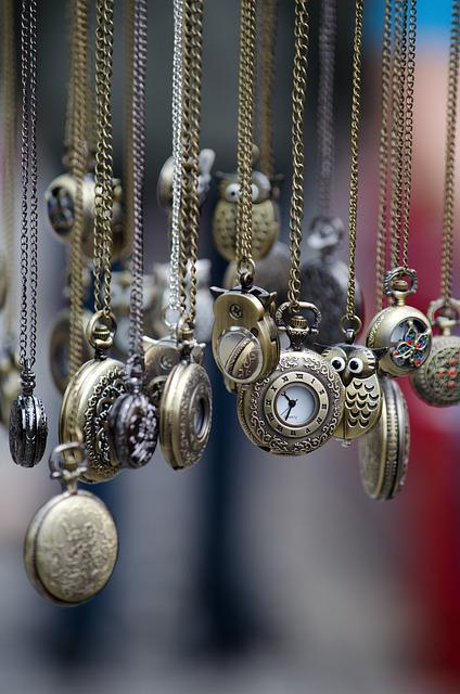 Pocket Watches, Time Of, Time, Watches, Chain, Metal