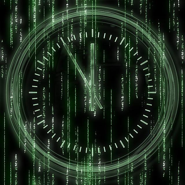 Time, Matrix, Network, Digital, Technology, Information
