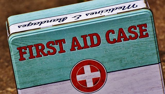 First Aid, Box, Tin Can, Sheet, Color, Metal Cans