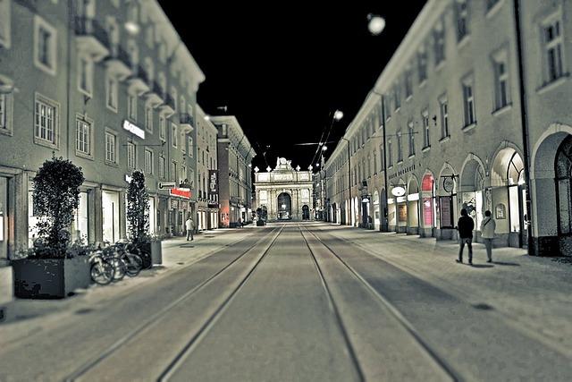 Street, Innsbruck, Austria, Tirol, Cityscape, Urban