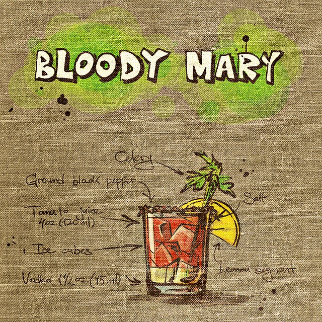 Bloody Mary, Cocktail, Drink, Tissue, Fabric, Alcohol