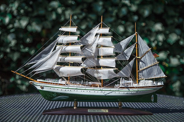 Ship, Gorch Fock, Model, Faithfully, Tinkered, To Scale
