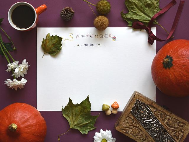 September, Planning, To-do, List, Autumn, Fall, Season