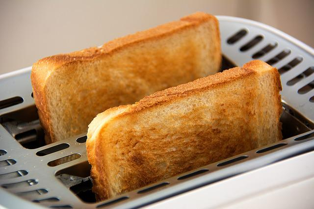 Toast, Toaster, Food, White Bread, Slices Of Toast, Eat