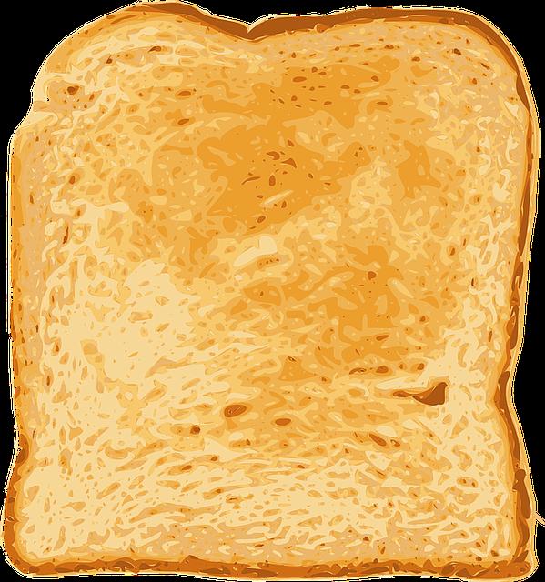 Bread, Toast, Food, Breakfast, Meal, White, Toasted