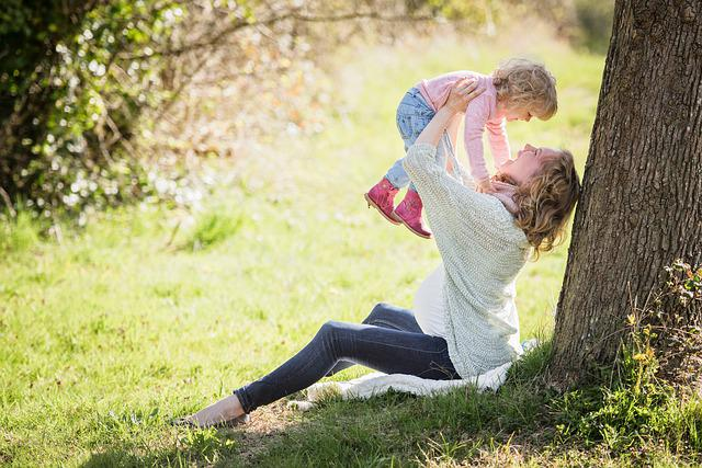 Park, Mother, Girl, Mama, Child, Toddler, Landscape