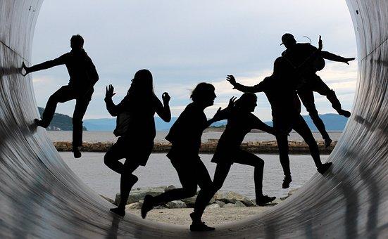 Friendship, Fun, Back Light, Funny, Together, Figures