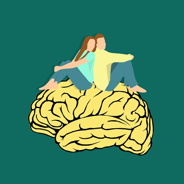 Couple, Husband, Wife, Together, Brain Icon, Mind