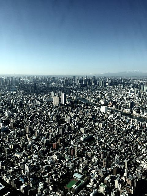 Tokyo, Sky, Bird's Eye View