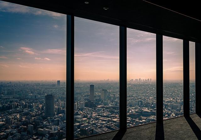 Shibuyasky, Shibuya, Tokyo, Japan, Shadow, View, Window