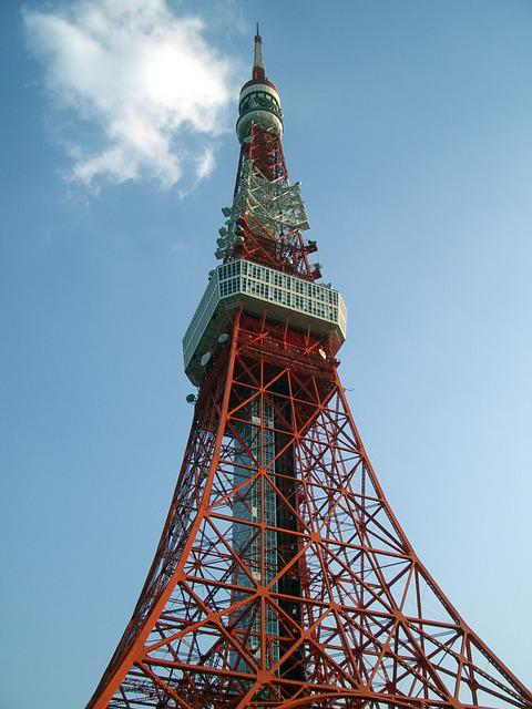 Tokyo Tower, Clear Skies, Day