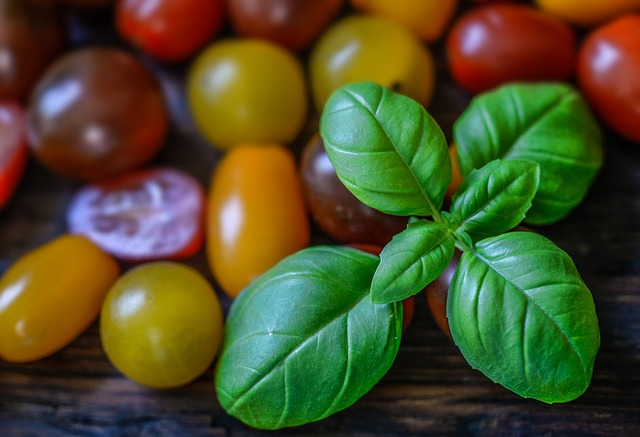 Basil, Tomato, Wallpaper, Background, Food, Fresh