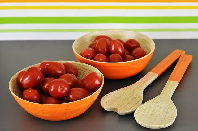 Tomatoes, Salad Servers, Vegetables, Bowls, Healthy