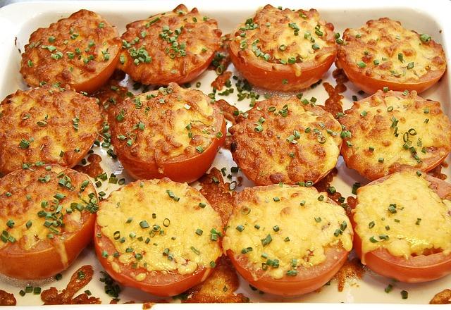 Tomatoes, Gratin, Cheese, Mozzarella, Oven, Garnish