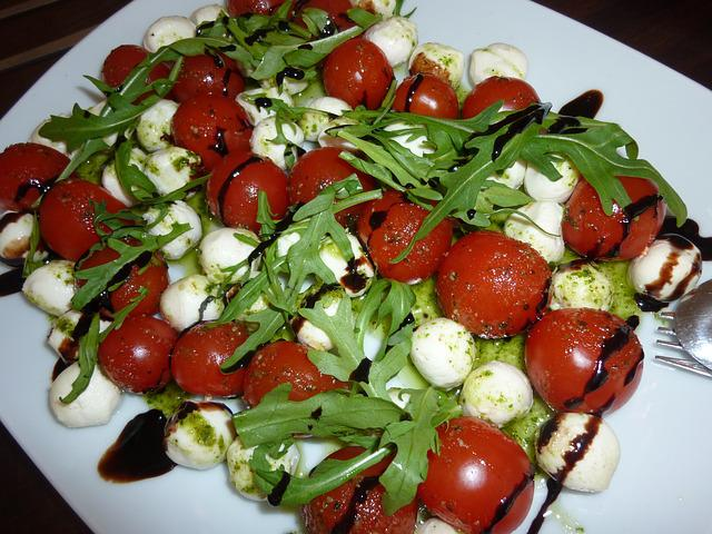 Capresse, Salad, Eat, Italian, Tomatoes, Mozzarella