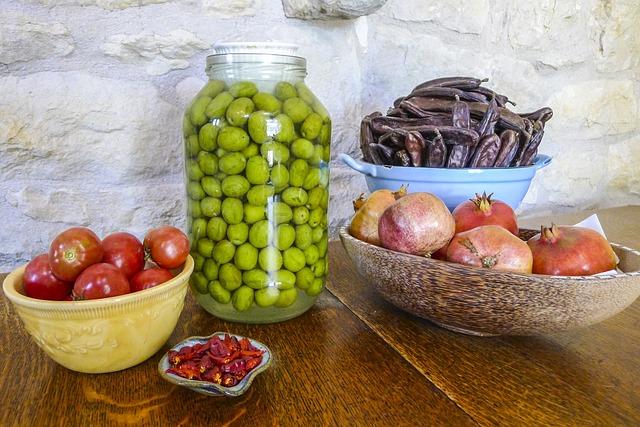 Harvest, Tomatoes, Olives, Pomegranates, Chilies, Carob