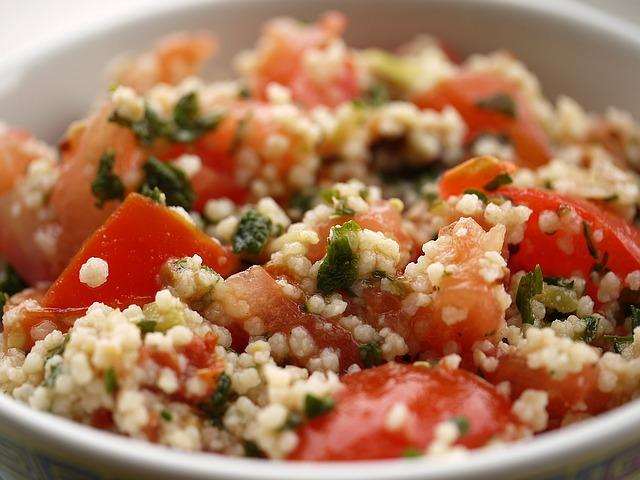 Couscous, Vegetables, Tomatoes, Dinner, Meal, Plate