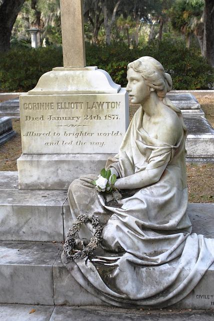 Monument, Cemetery, Gravestone, Tombstone, Savannah