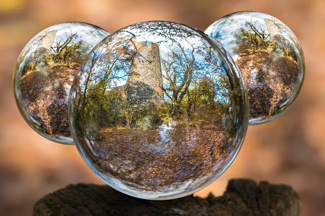 Glass Ball, Tomburg, Autumn, Globe Image, Photo Sphere