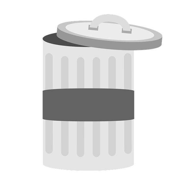 Garbage, Bucket, Waste, Ton, Lid, Metal