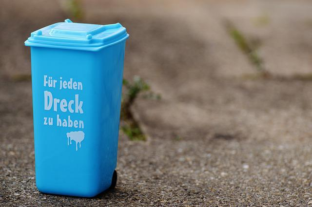 Dustbin, Funny, Saying, Garbage Can, Ton, Bucket, Blue