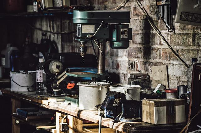 Drill, Equipments, Garage, Tools, Workshop