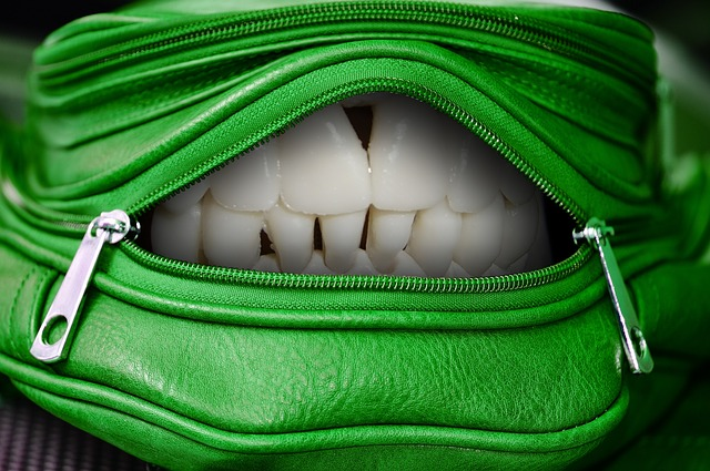 Handbag, Open, Mouth, Tooth, Funny