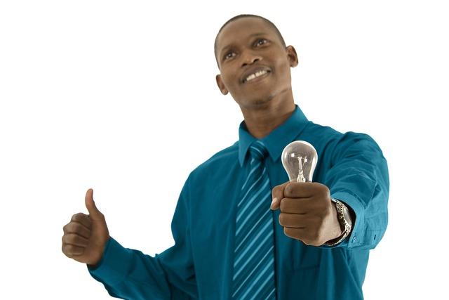 Man, Person, Top, Happy, Bulb, Light, African, Idea