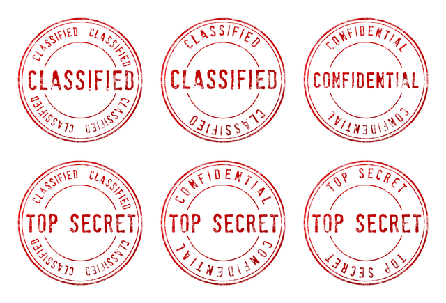 Top Secret, Confidential, Classified, Stamp, Black Ops
