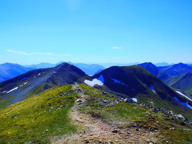 Scotland, Mountains, Na Gruagaichean, Tops, Grampians