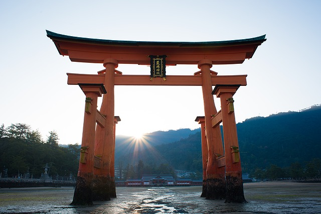 Torii, Shrine, Sea, Itsukushima Shinto Shrine, God
