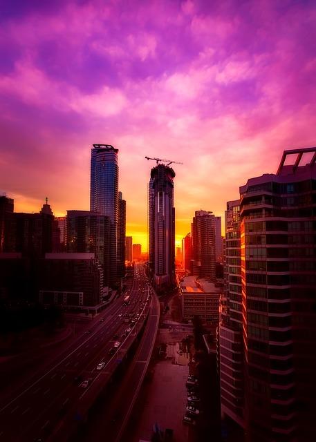 Toronto, Canada, City, Urban, Skyscrapers, Buildings