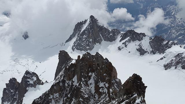 Tour Ronde, Glacier, High Mountains, Mountains, Alpine