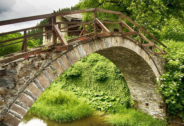 Stone Bridge, Spring, Bulgaria, Tourism, Arched Bridge