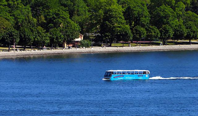 Bus, Amphibious, Oceanbus, Sea, Vehicle, Tourism