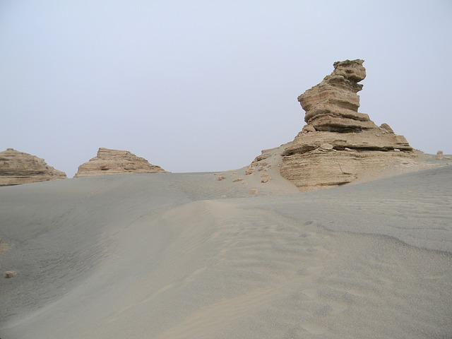 Tourism, Landform, Dunhuang, Desert, China