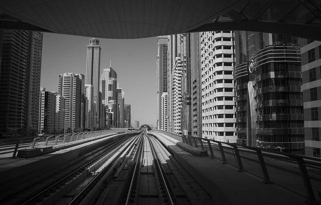 Dubai, Landscape, Metro, Urban, Architecture, Tourism