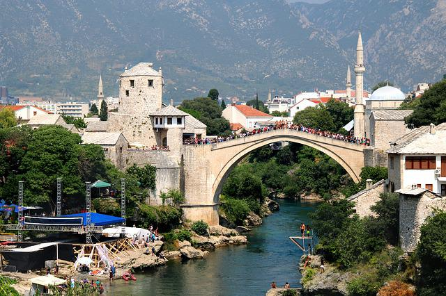 Mostar, Bosnia, Herzegovina, River, Europe, Tourism